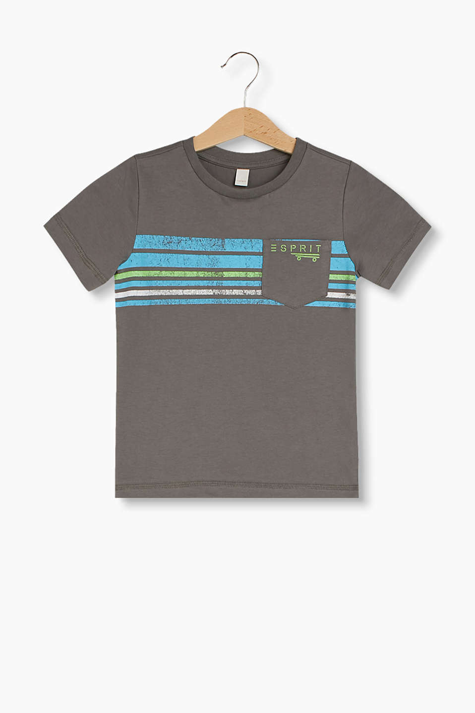 Made of 100% cotton: T-shirt with a striped print