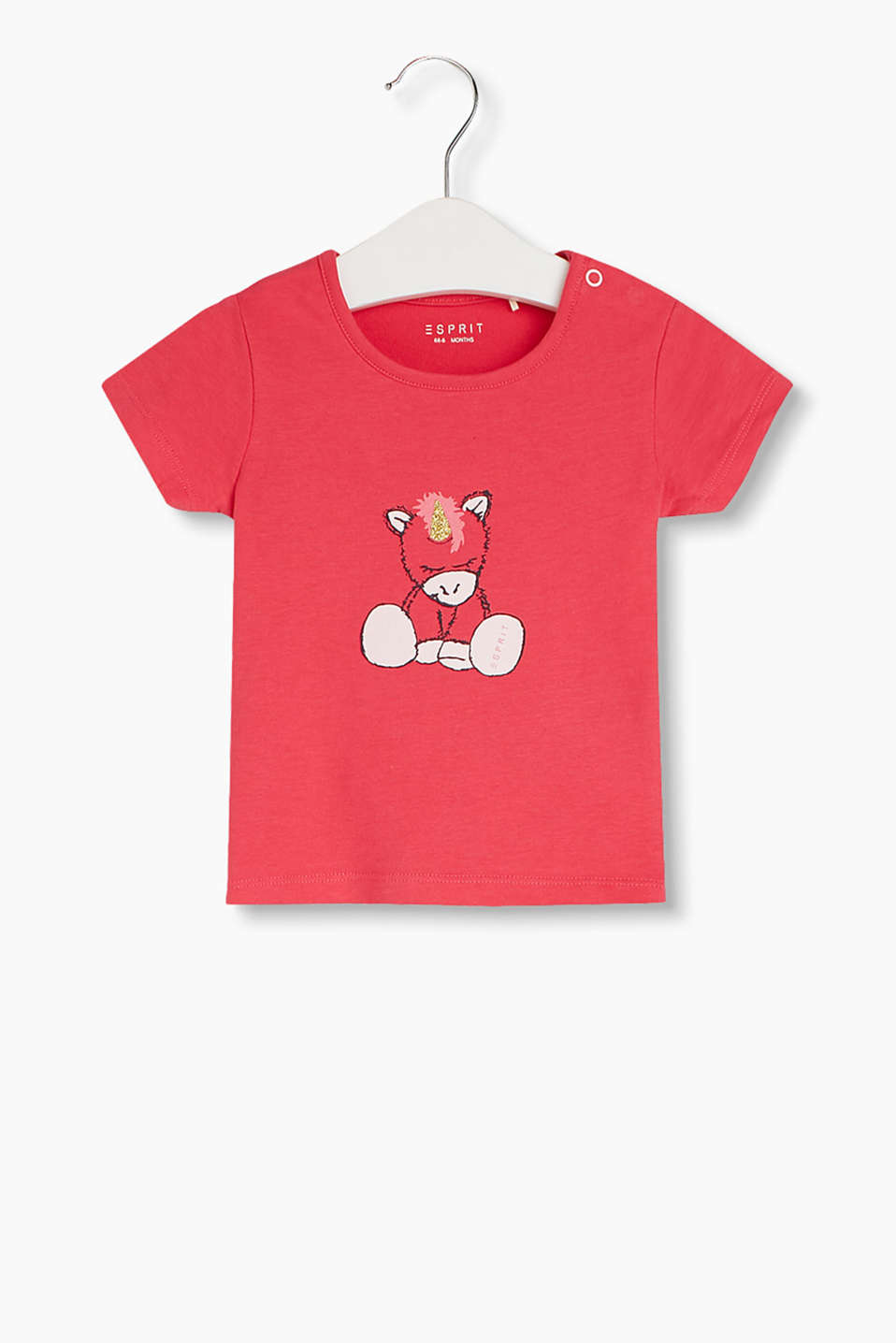 100% cotton T-shirt with a unicorn print