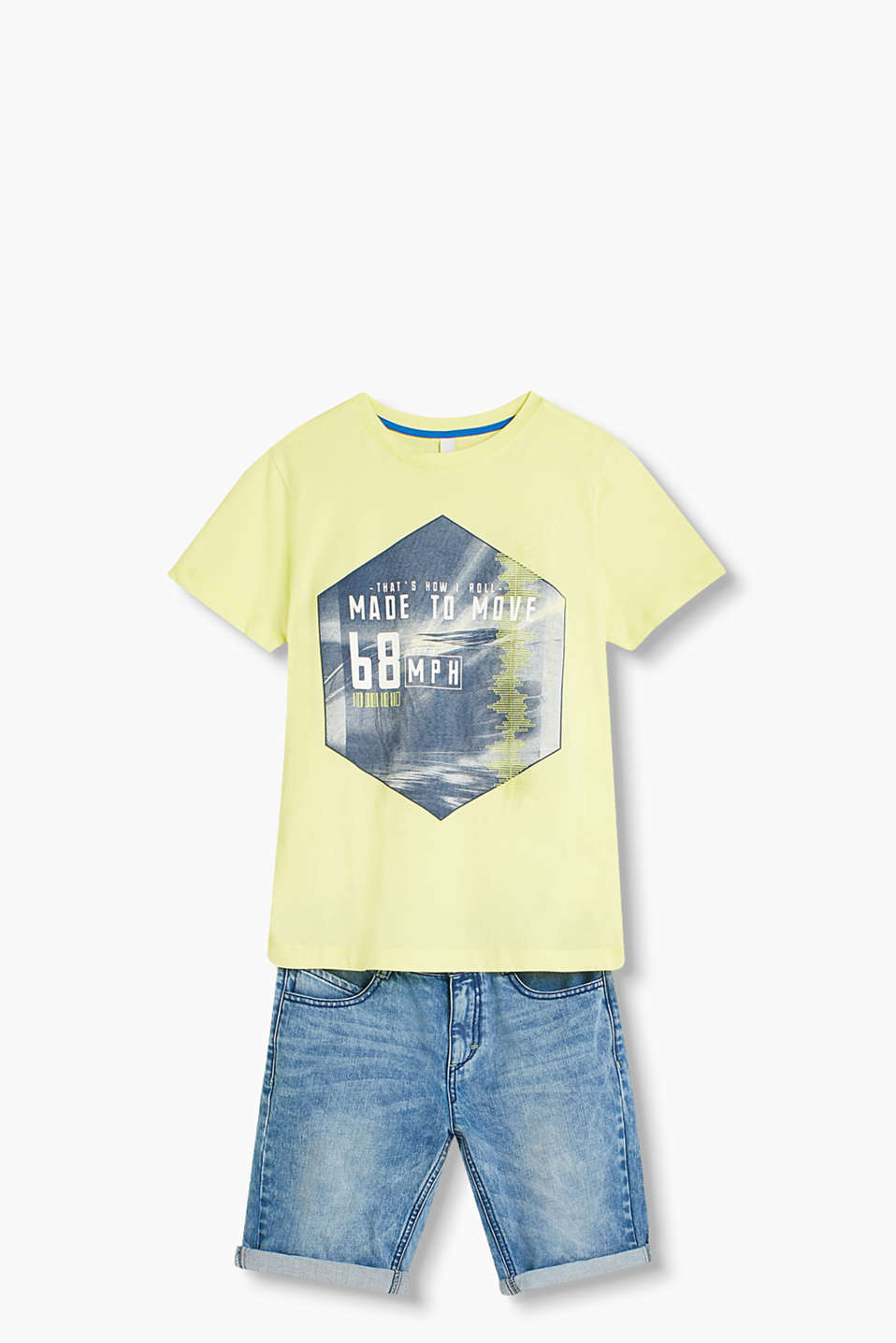 Cool print T-shirt in pure cotton