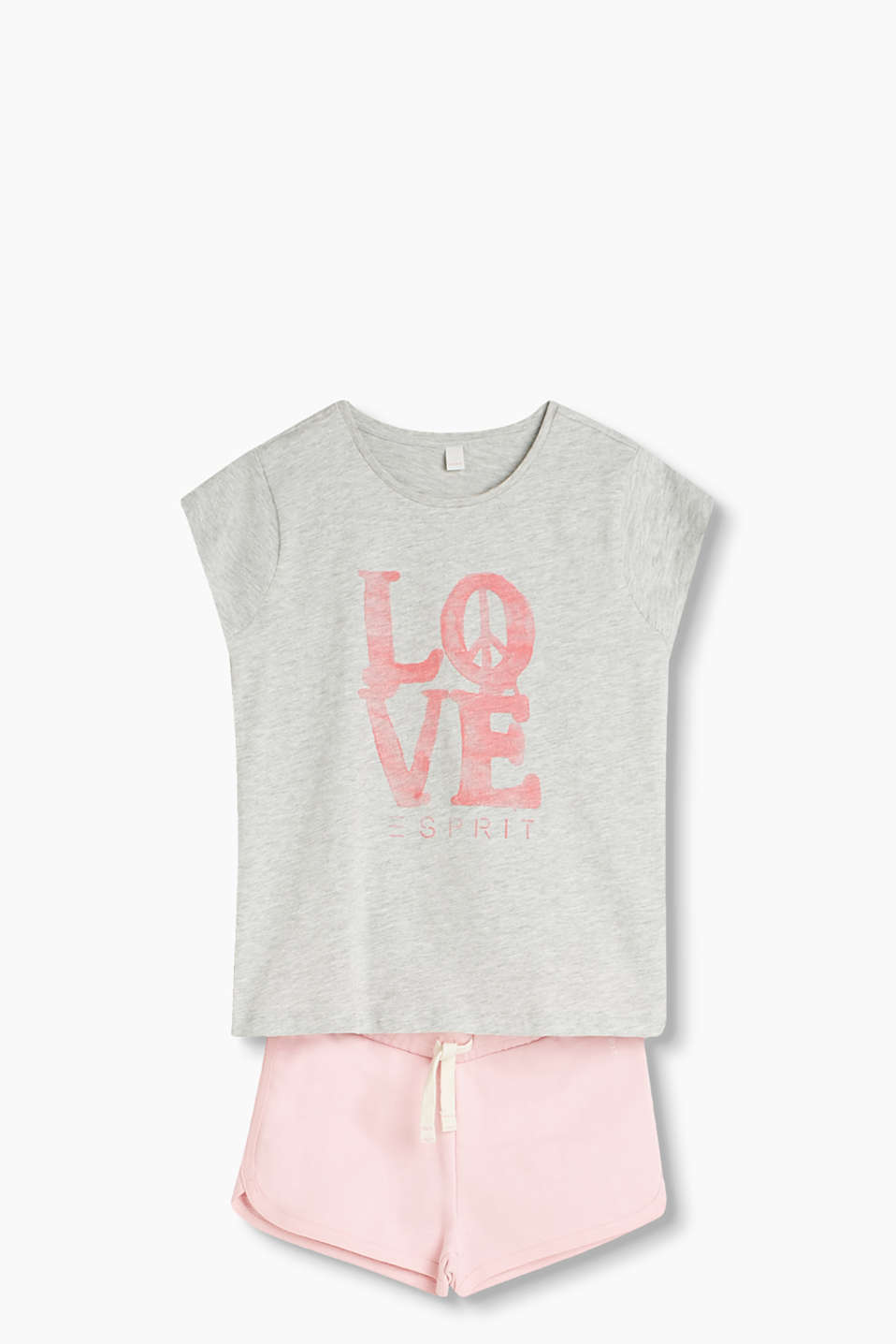 LOVE and PEACE: T-shirt in soft cotton jersey