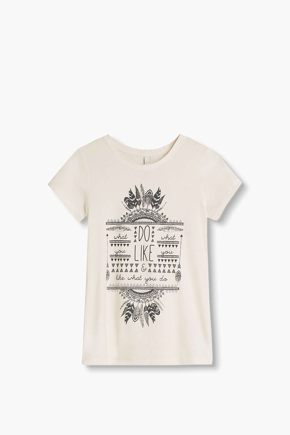 Lightweight T-shirt in a vintage look with a trendy front print, 100% cotton