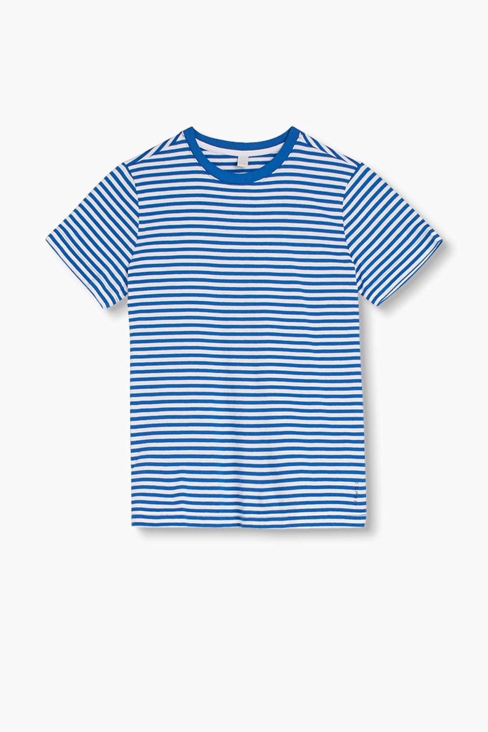 Basic, pure cotton T-shirt with a nautical stripe pattern