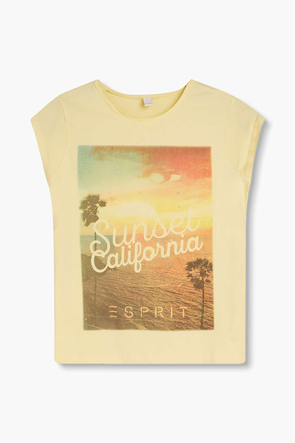California dreaming! T-shirt with a sunset print in a cotton-modal blend with added stretch for comfort
