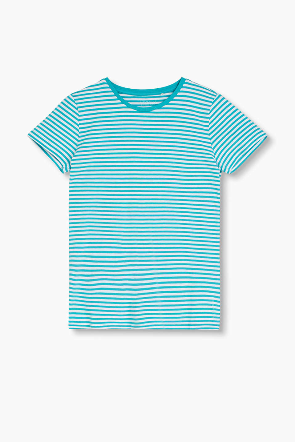 Soft, striped T-shirt made of stretch cotton