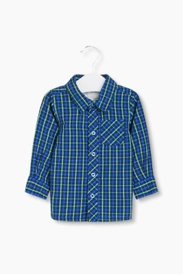 Basic check shirt, 100% cotton