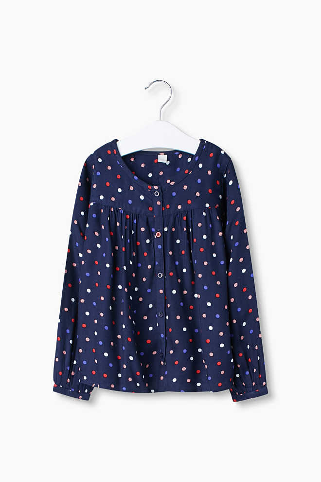 Esprit / Flowing blouse with a polka dot print