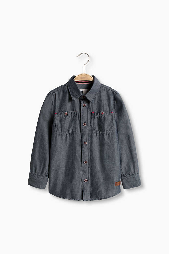 Esprit / Chambray shirt, 100% cotton
