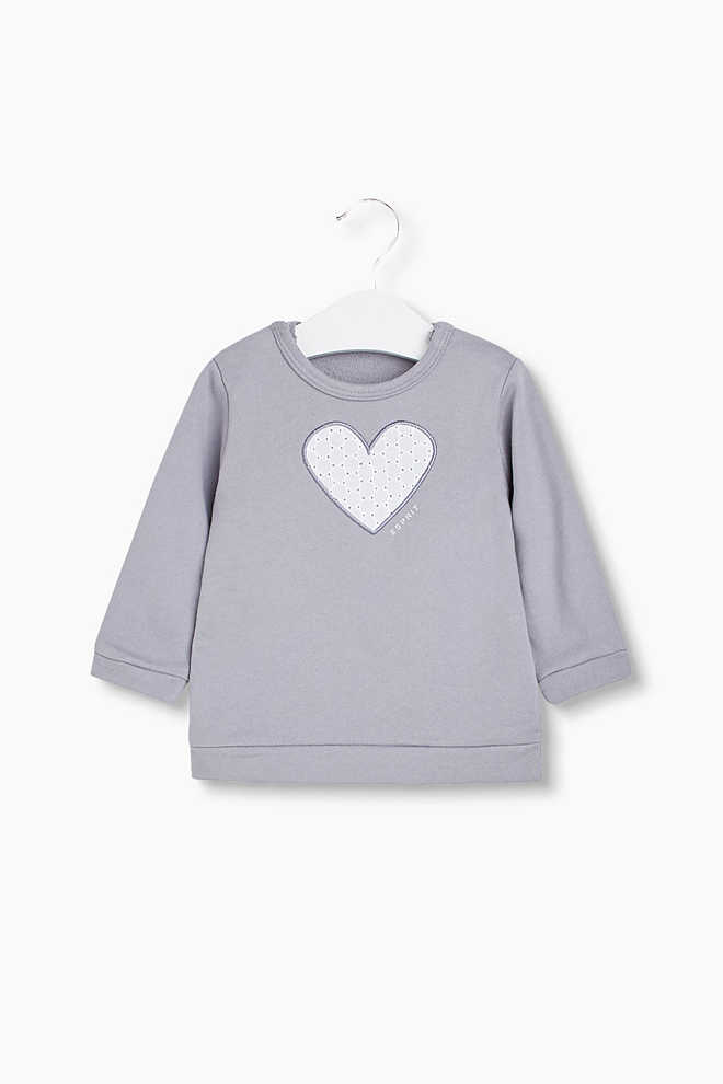 Esprit / Sweatshirt med applikation, 100 % bomull