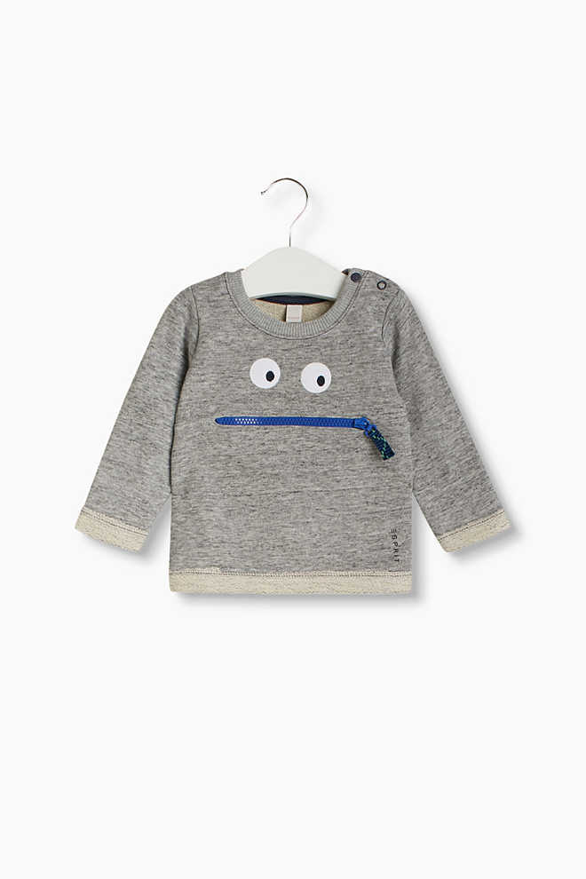Esprit / Soft sweatshirt with monster face