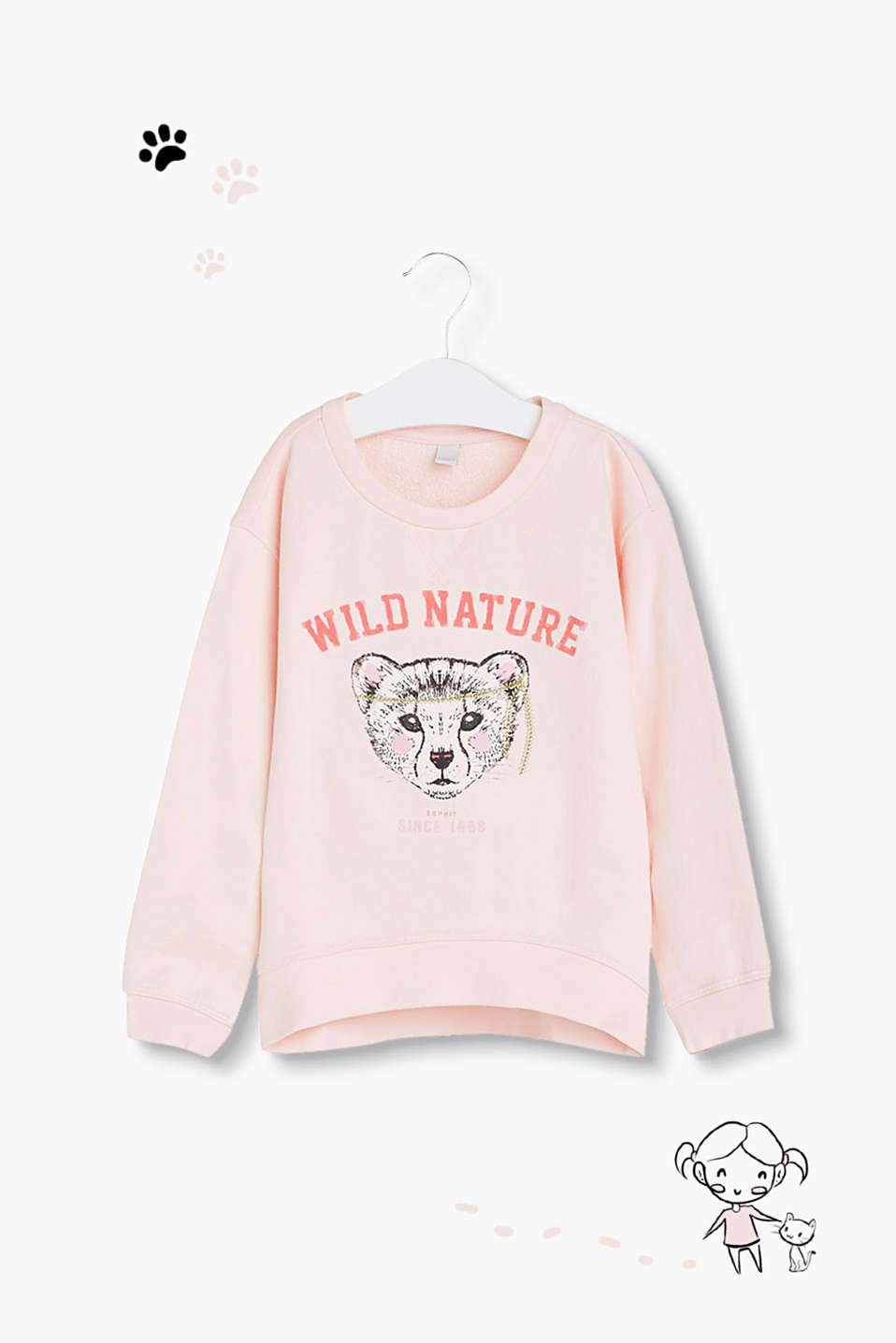 WILD NATURE! Sweatshirt aus Baumwoll-Mix
