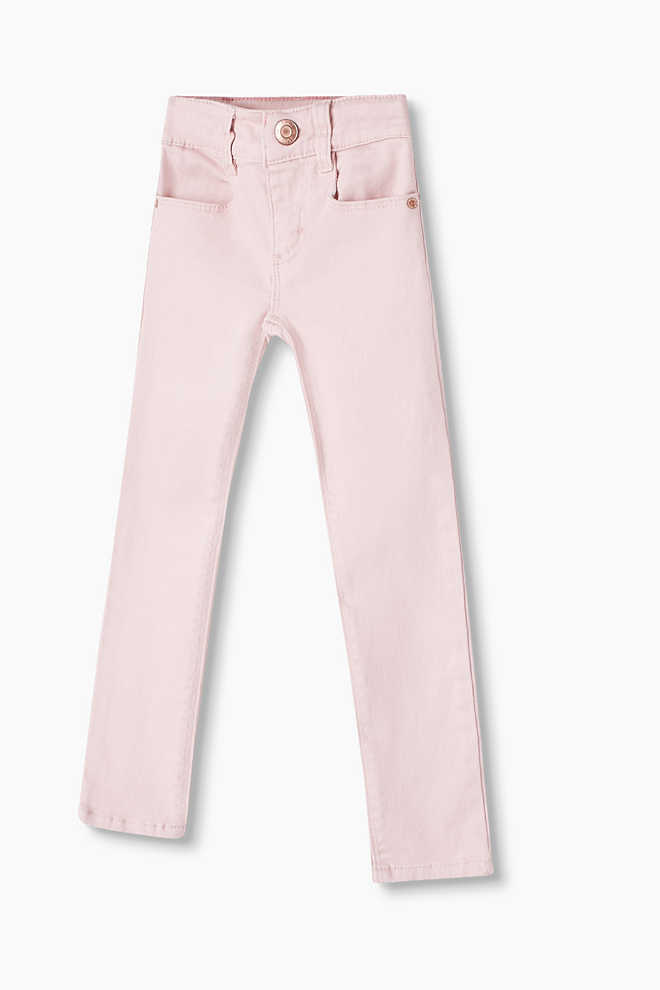 Esprit / Coloured stretch jeans with lace