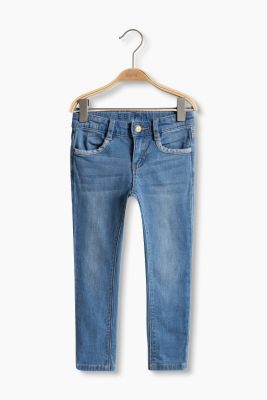 Stretch-Jeans mit Inside-Out-Effekten