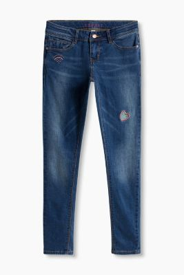 Stretch-Jeans mit coolen Stitchings
