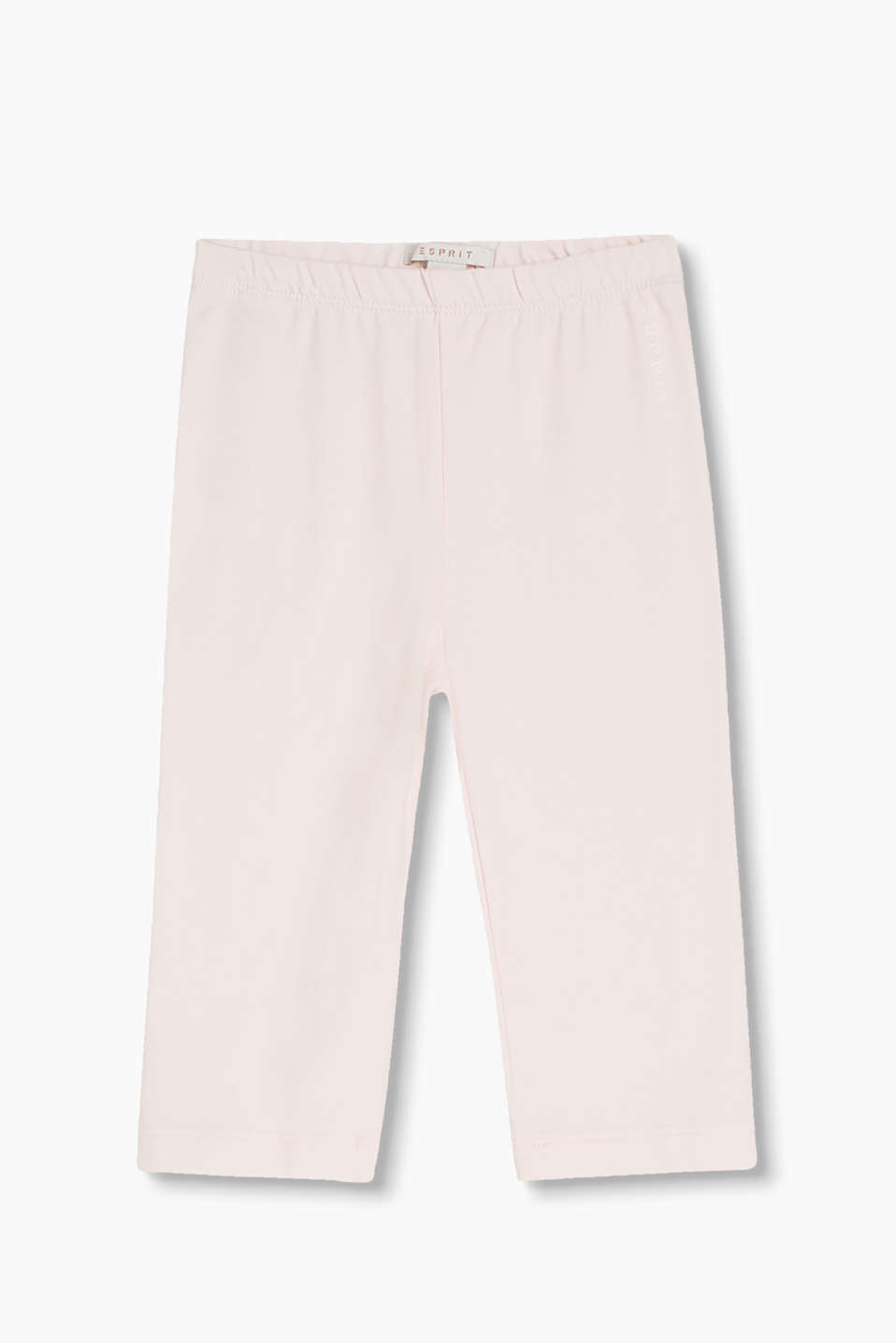 Basic Capri leggings made of plain cotton-jersey with a percentage of elastane