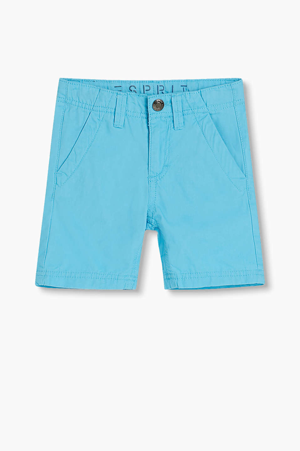 Shorts in soft cotton twill in a vibrant colour