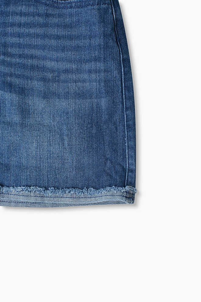 Esprit / Minigonna abbottonata in denim stretch