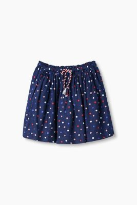 Flowing A-line skirt with polka dot print
