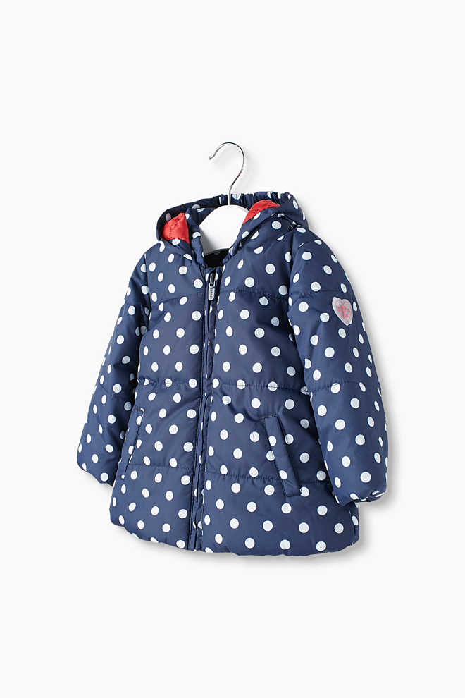 Esprit / Padded jacket with polka dot print