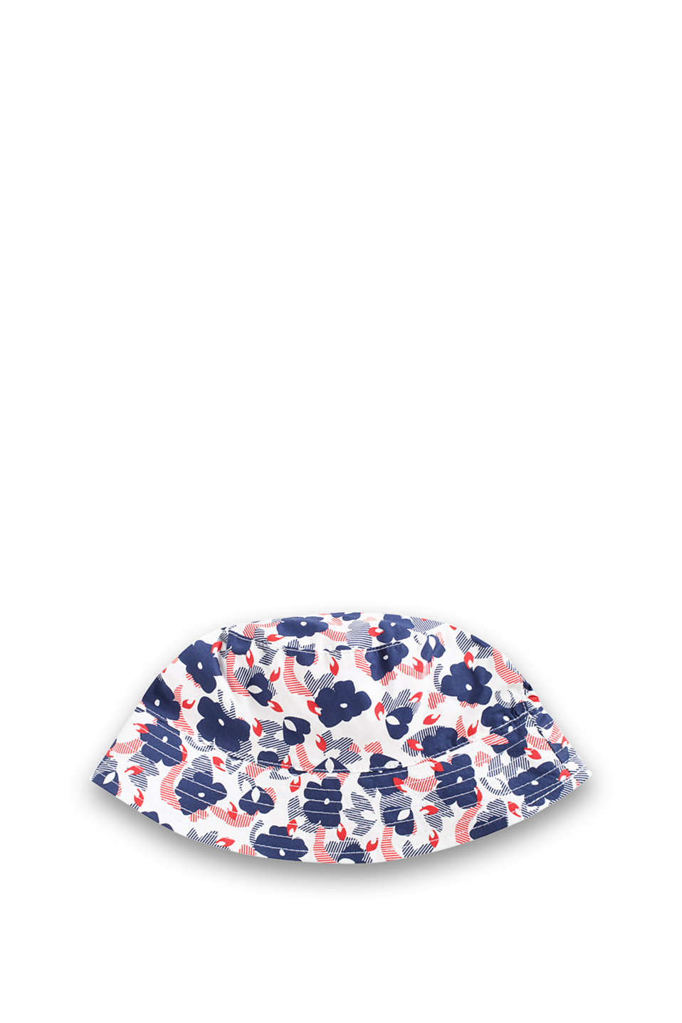 Made of cool cotton poplin: cap with a floral print