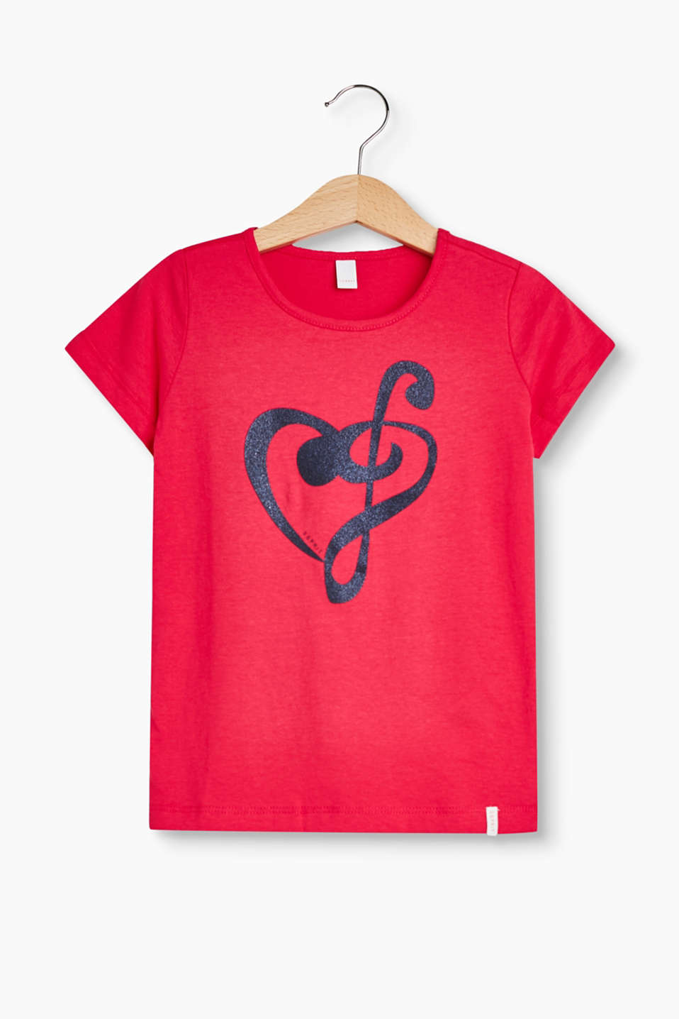 With a glittery heart note: T-shirt in soft cotton jersey