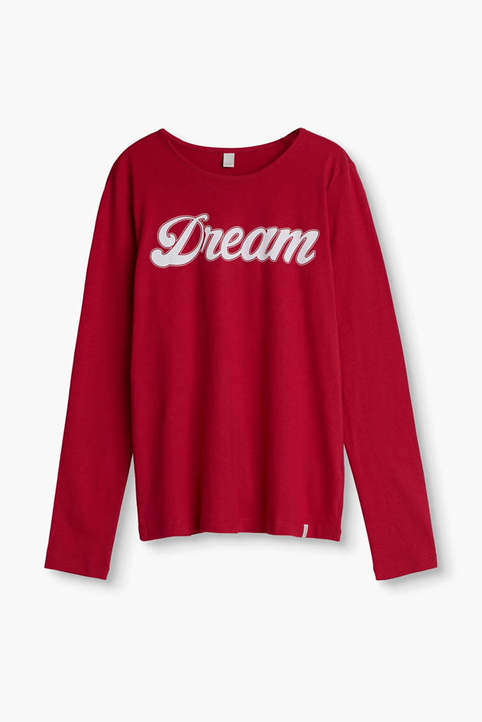 DREAM – long sleeve top in soft cotton jersey with a statement print