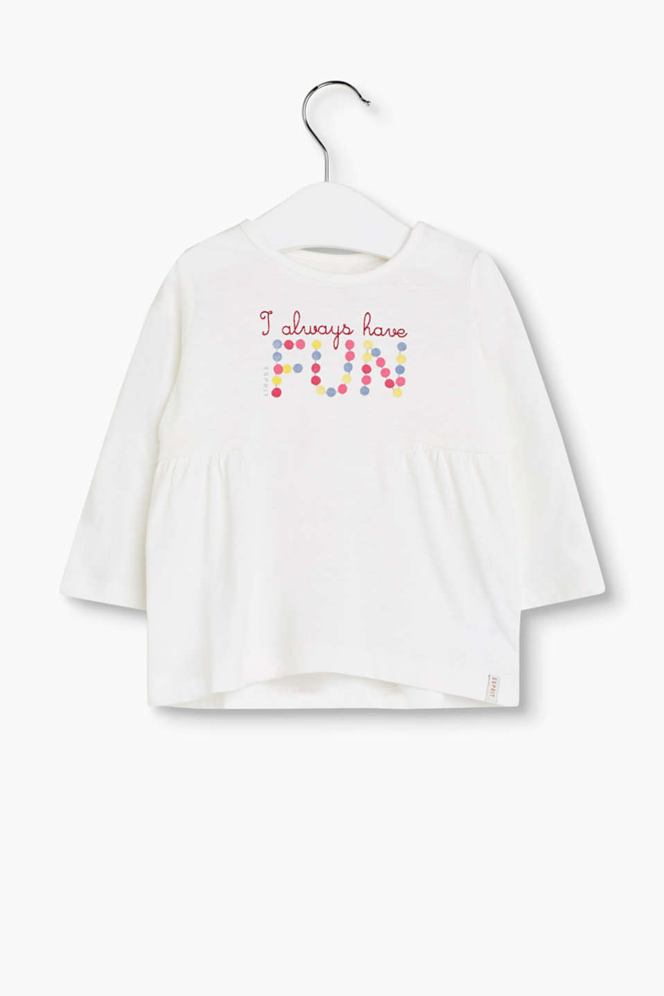 ALWAYS HAVE FUN – long sleeve top in soft cotton jersey