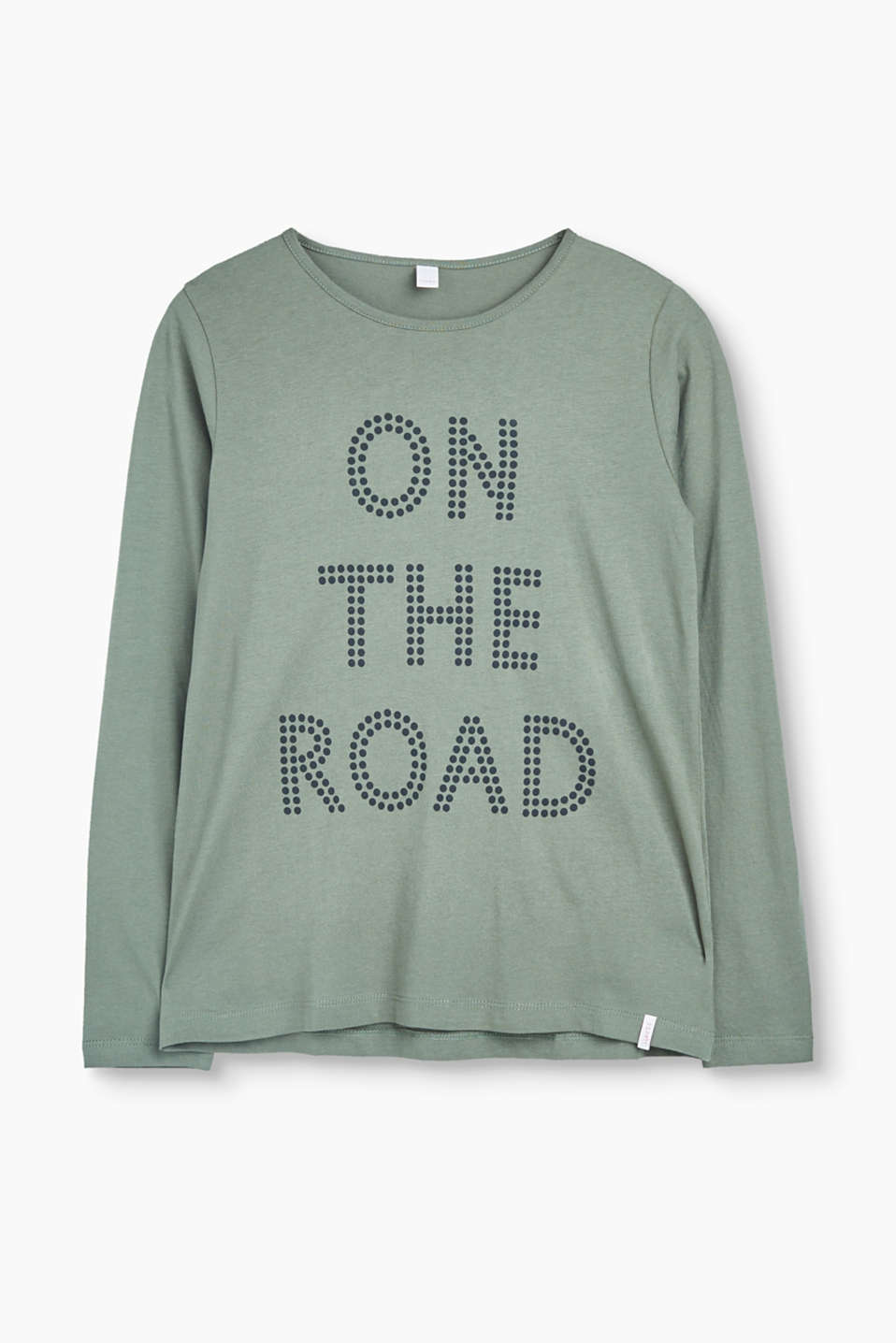 -It is easy to simply put something on and look cool with this print long sleeve top in soft cotton jersey!