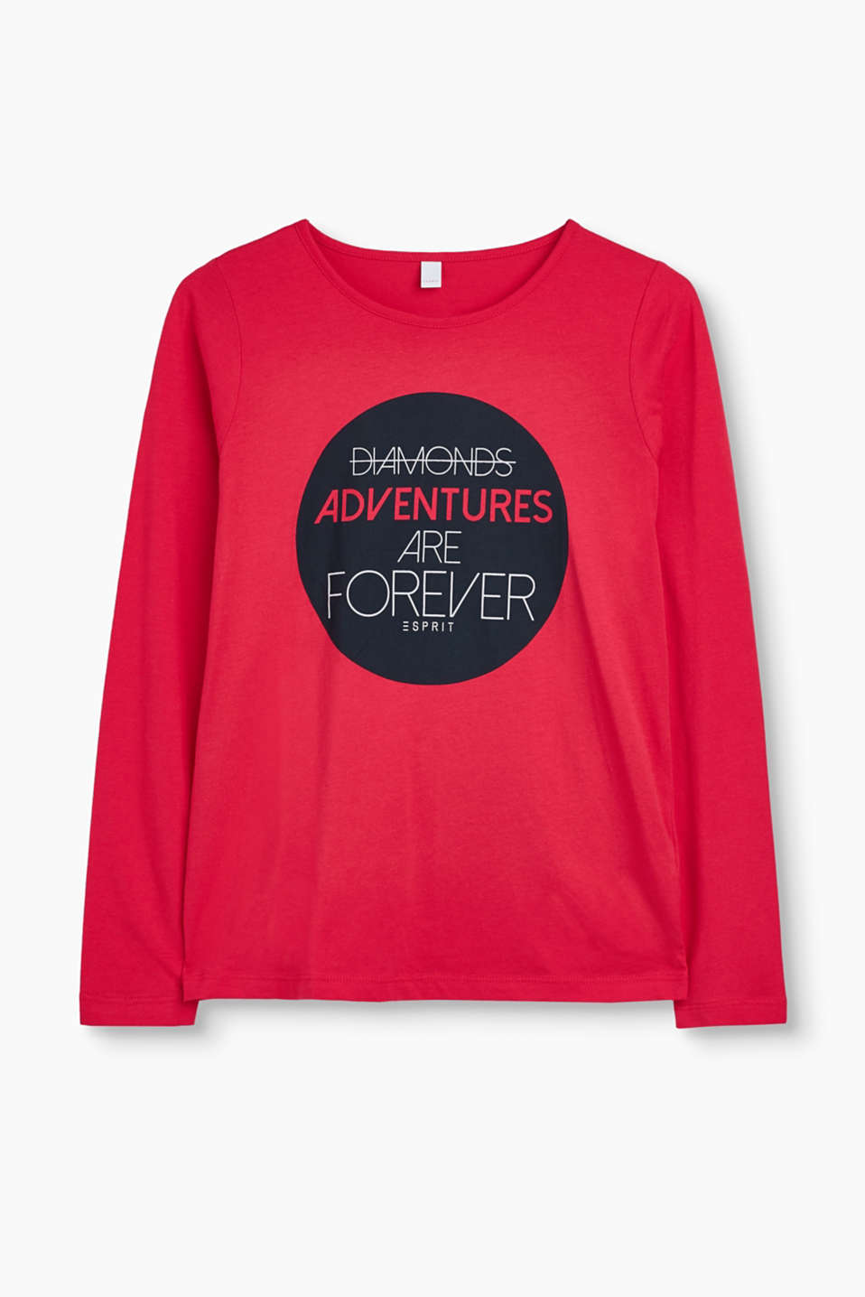 If you do not feel like talking then make a statement with this long sleeve top in soft cotton jersey!