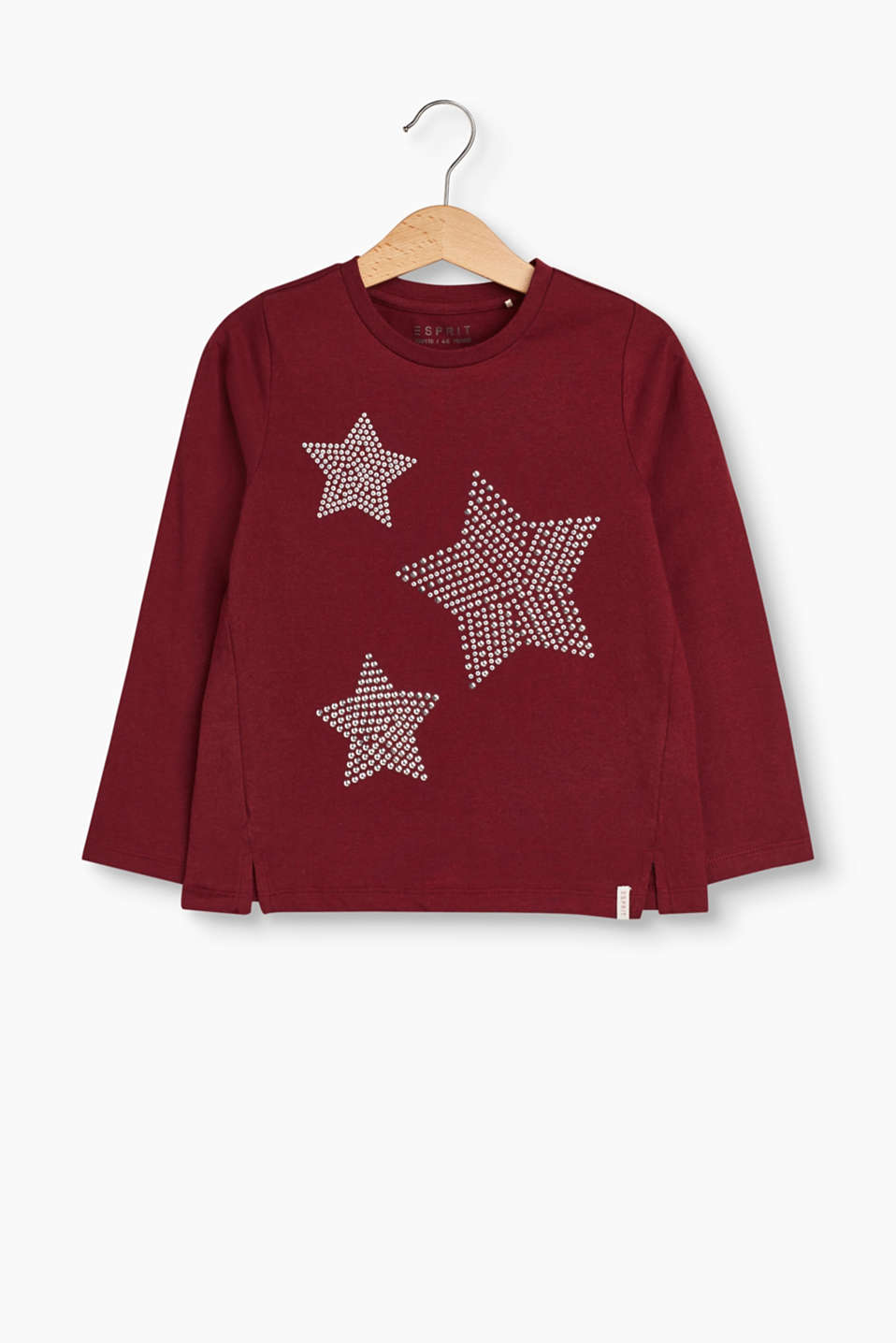 Shine like a star! This long sleeve top fantastically fuses top comfort with a pretty and charming, girlie vibe.