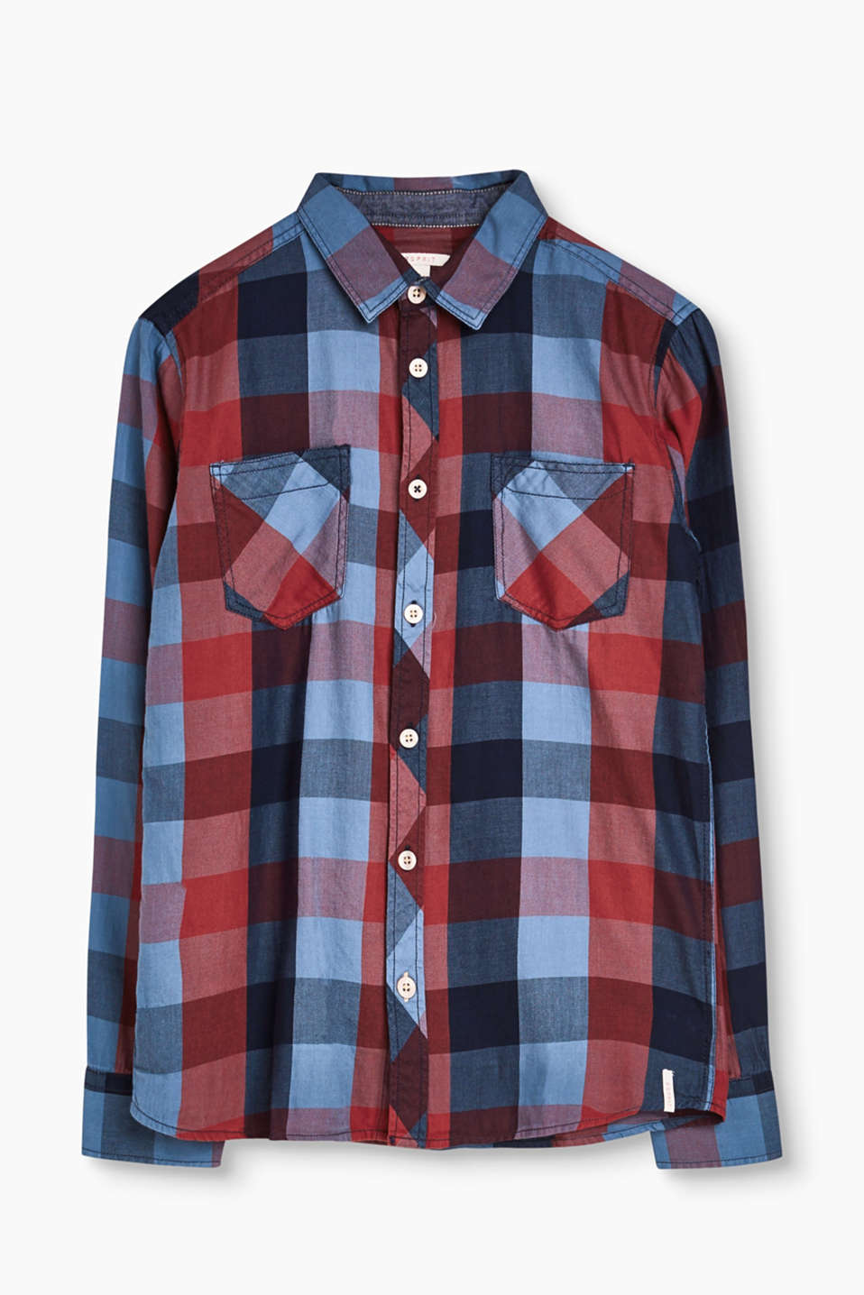 Soft cotton shirt with a stunning check pattern in a harmonious colour combination