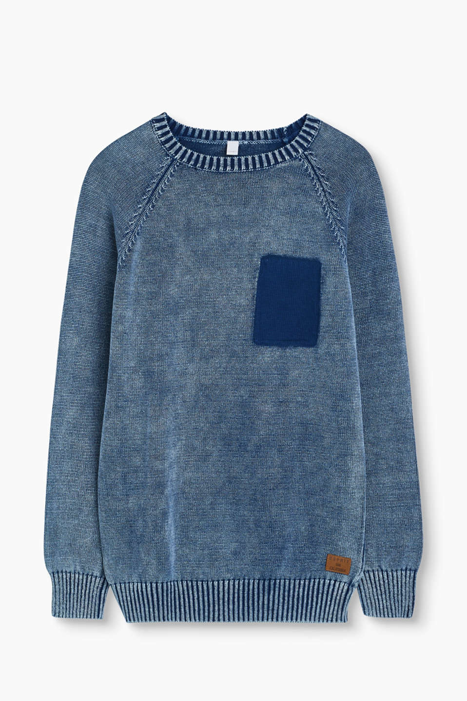 A knit highlight! The mock breast pocket in a contrasting colour makes this sweater extremely eye-catching.