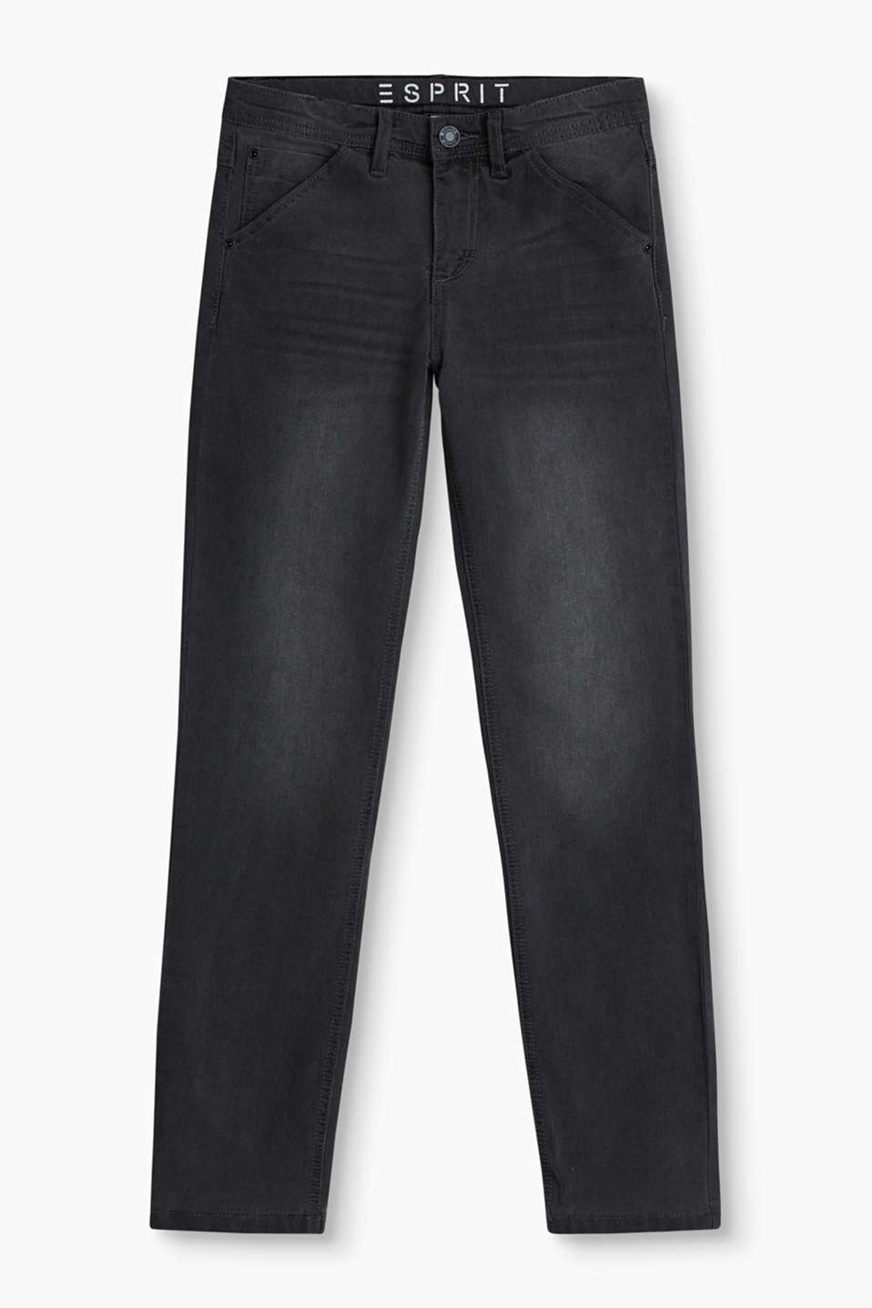 Stretchige 5-Pocket-Jeans in trendig grauer Waschung