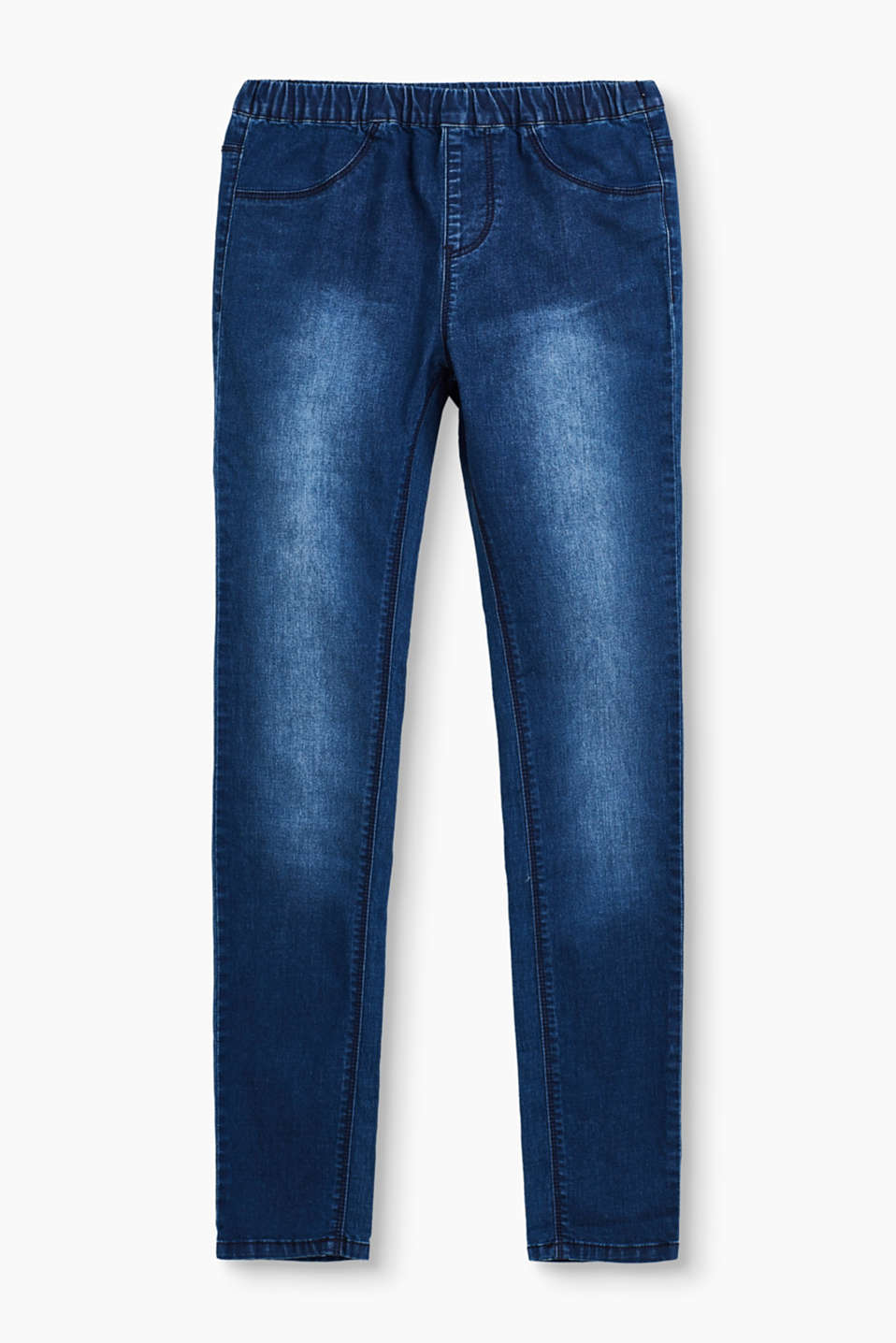 Jeggings aus softem Denim mit Washed-Effekten