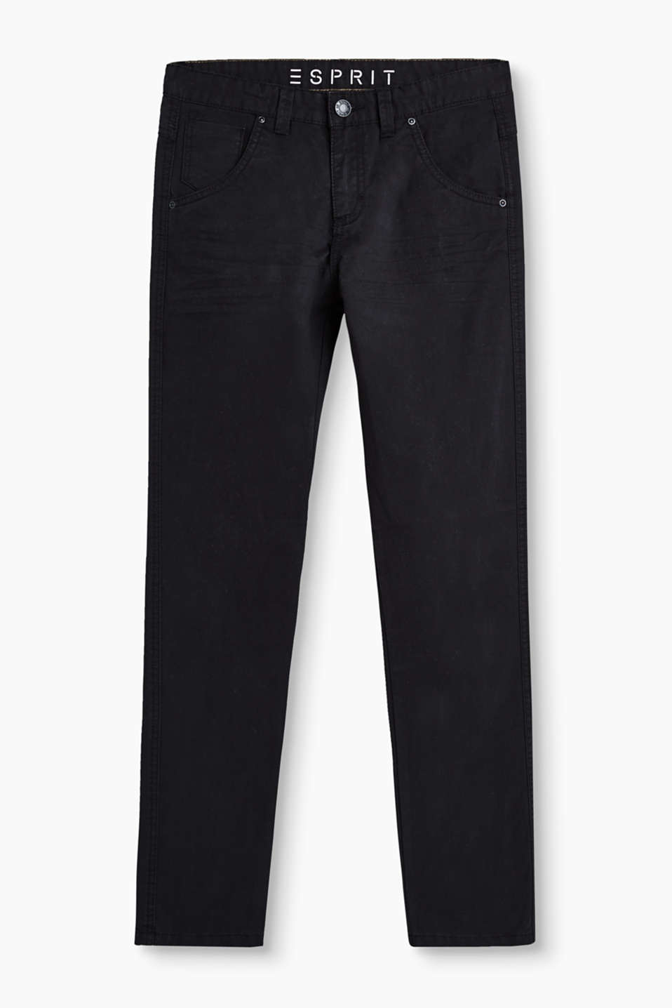 Five-pocket trousers in twill with stretch for comfort