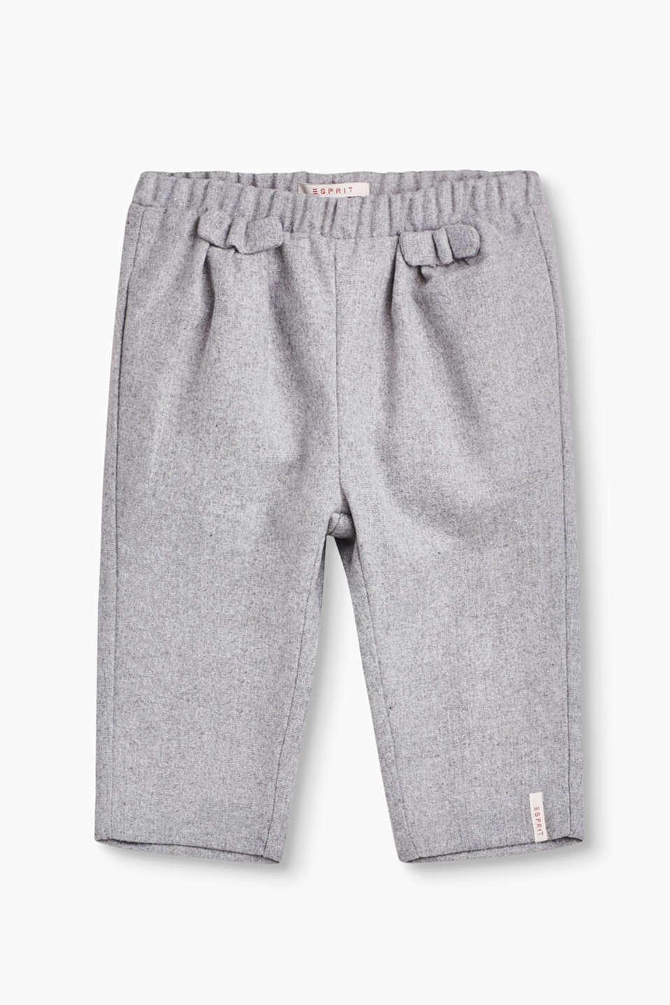 These comfortable, yet chic soft flannel trousers in a tracksuit style are perfect for tiny, active tots.