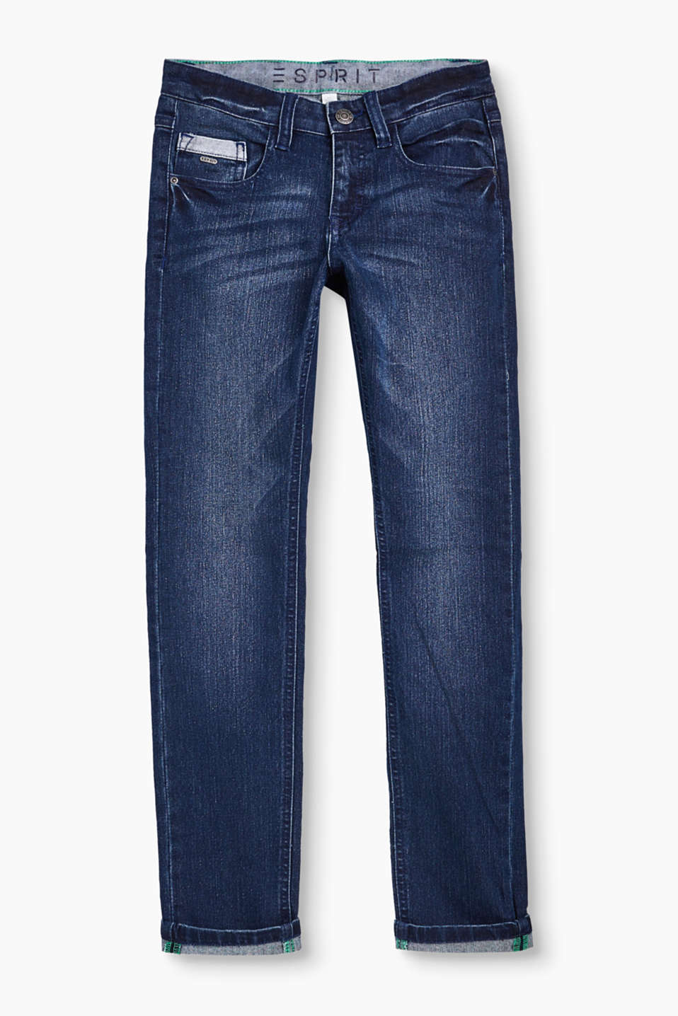The soft stretch denim in blended cotton makes these 5 pocket jeans mega comfy