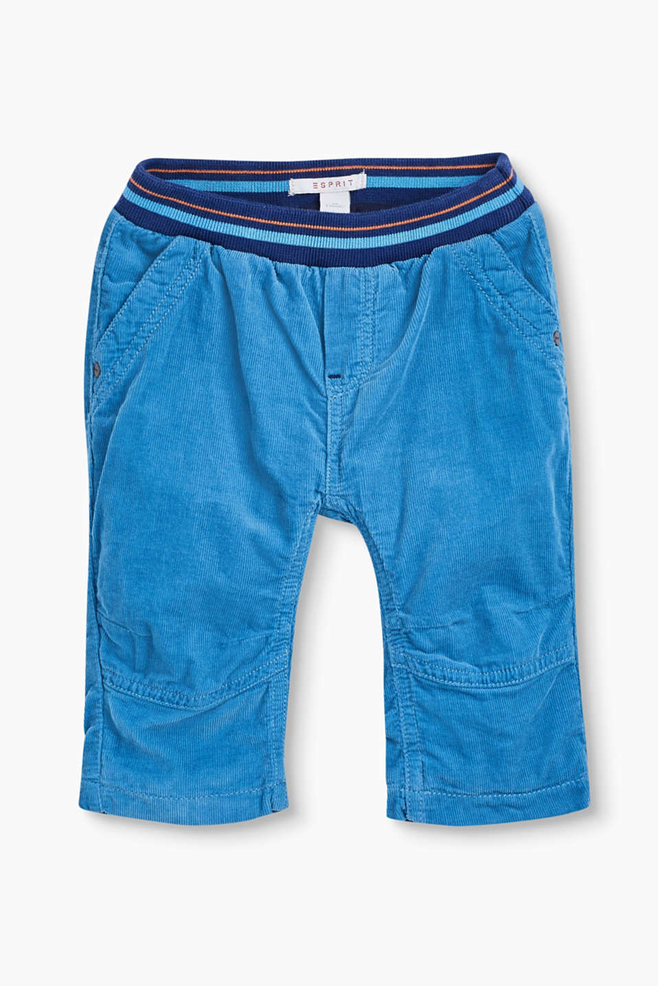 These trousers are perfect for playtime, thanks to their ribbed waistband and fine corduroy with soft jersey lining.