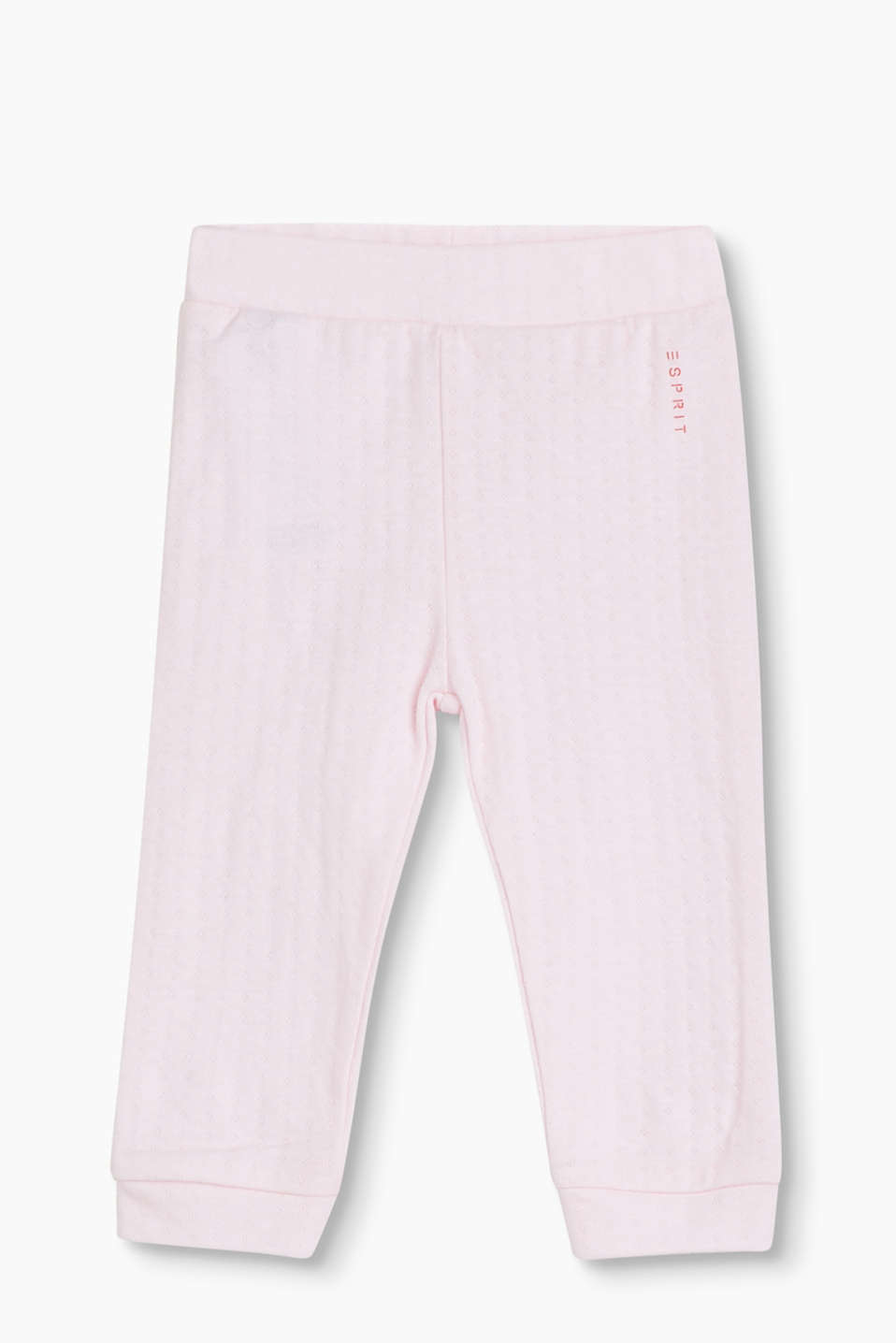 Super soft tracksuit bottoms in soft cotton jersey with added stretch for comfort, organic cotton blend