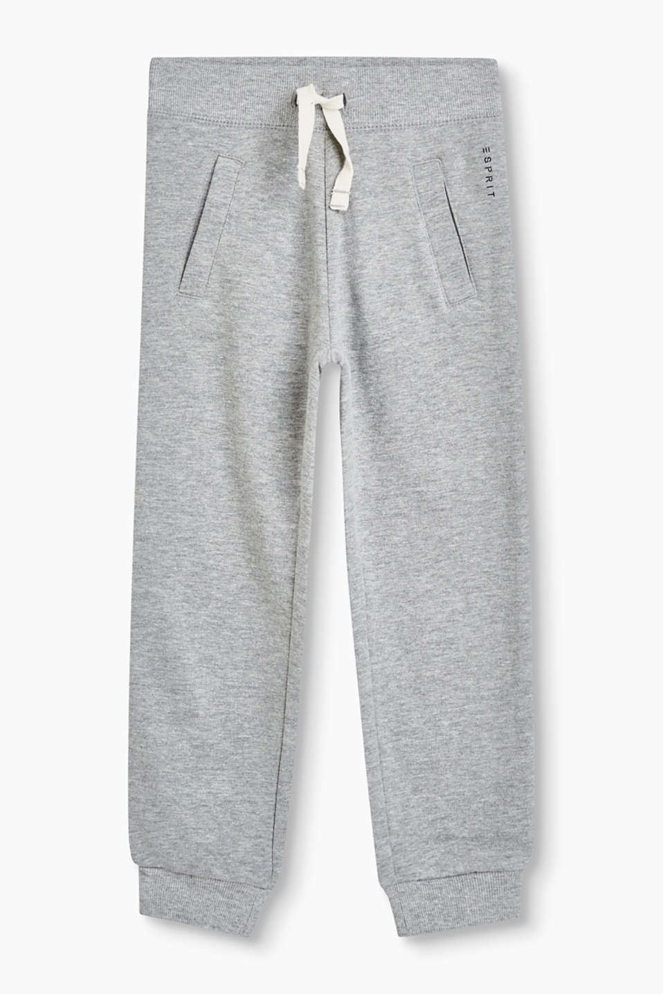 Basic tracksuit bottoms in a soft cotton blend