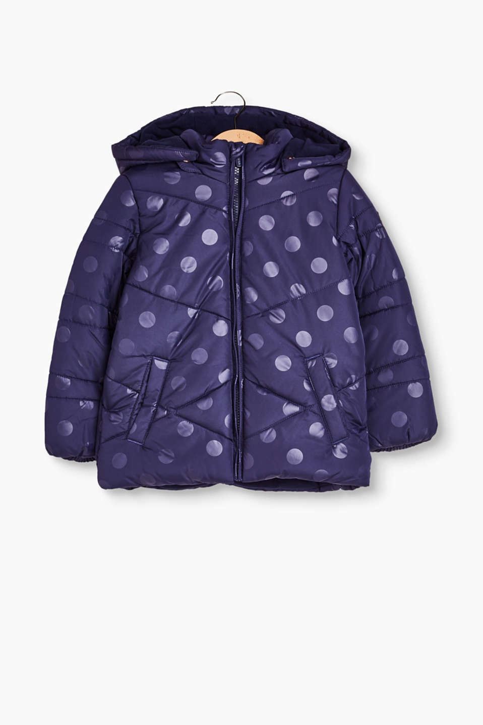 Mit Allover-Punkte-Print und Wattierung: Steppjacke for Kinder
