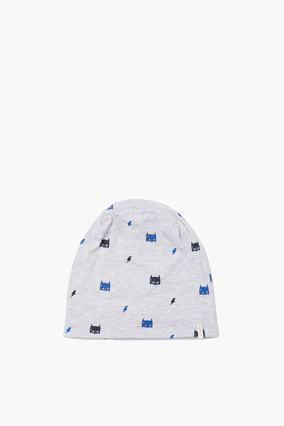Hat in melange jersey made of 100% cotton