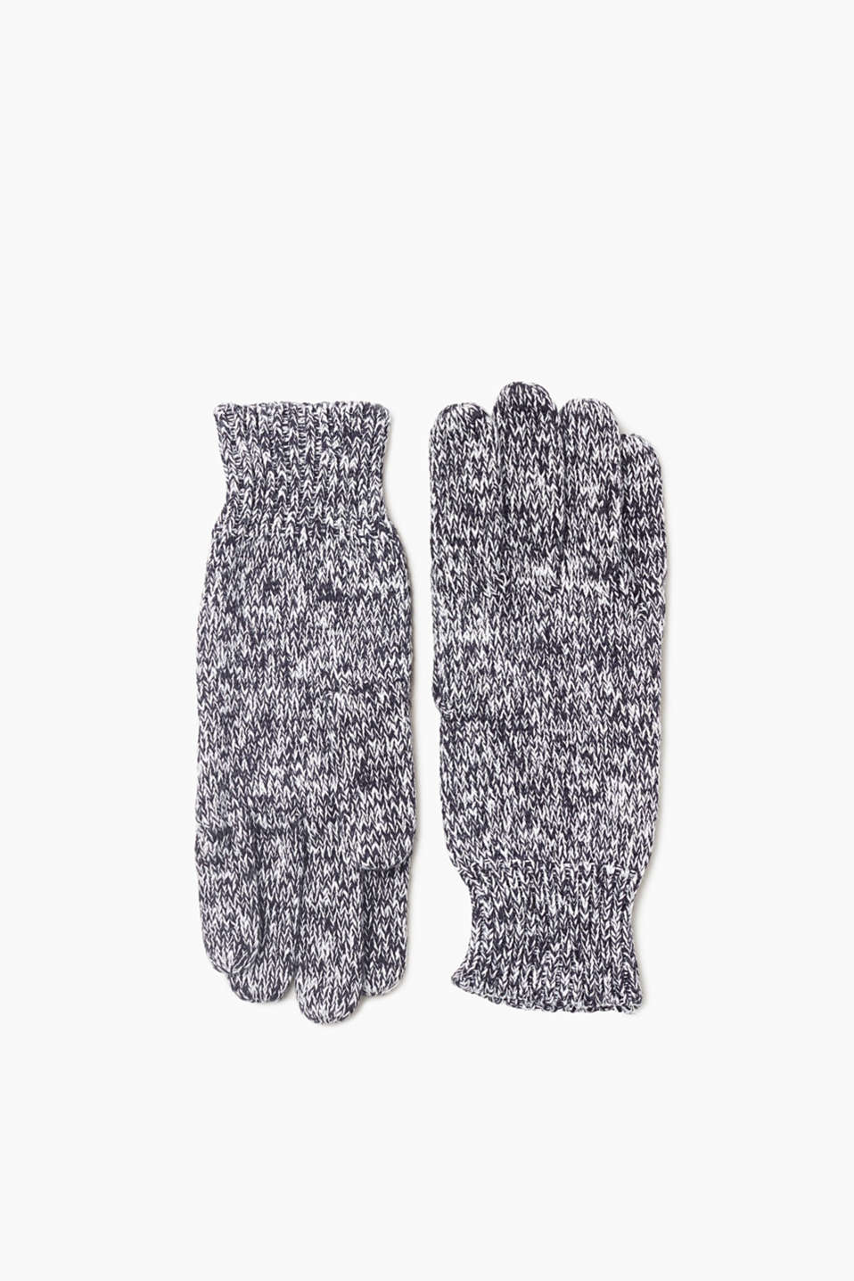 We love knitwear! And these gloves in two-tone knit fabric are no exception.