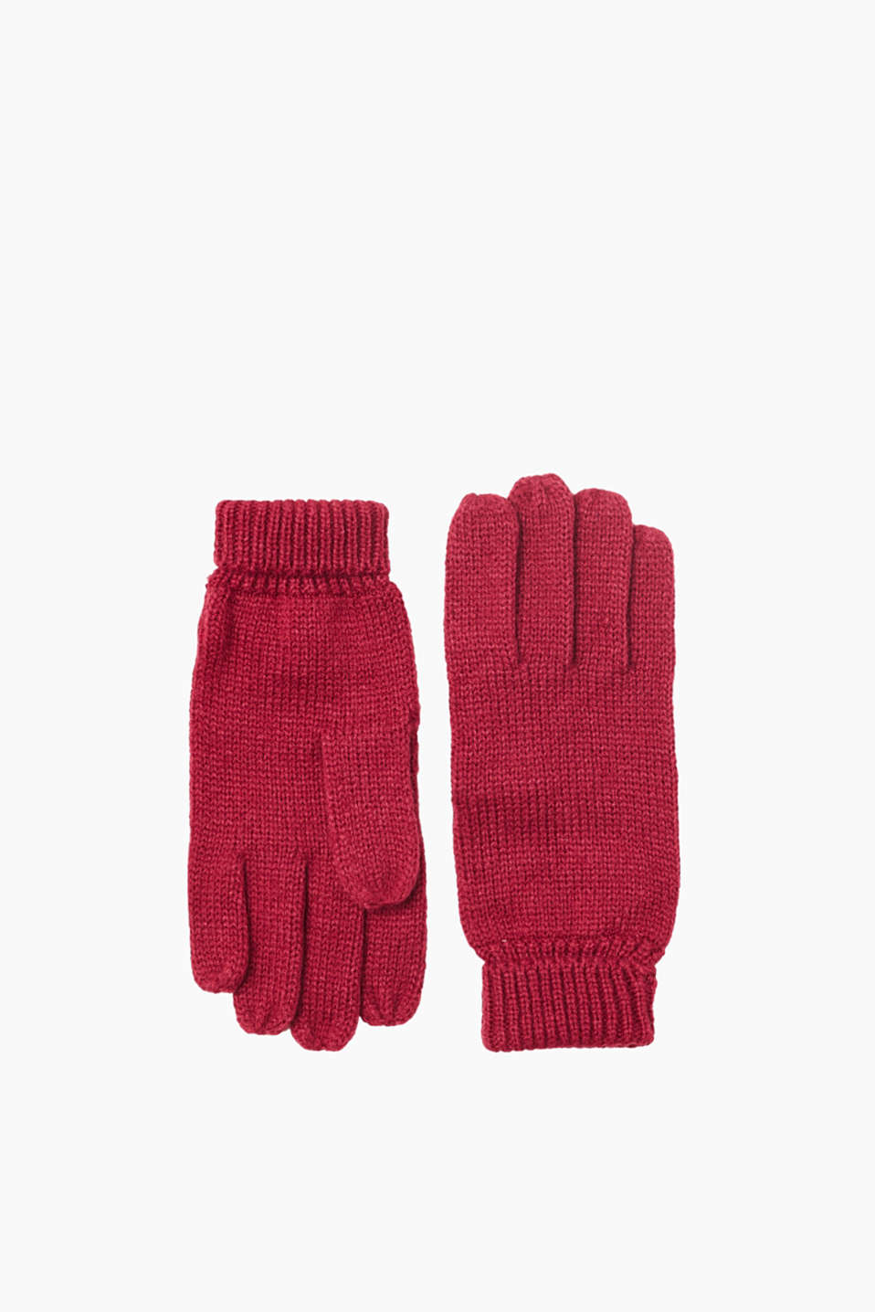 Autumn/winter basics: gloves with versatile, fold-over cuffs made of soft yarn