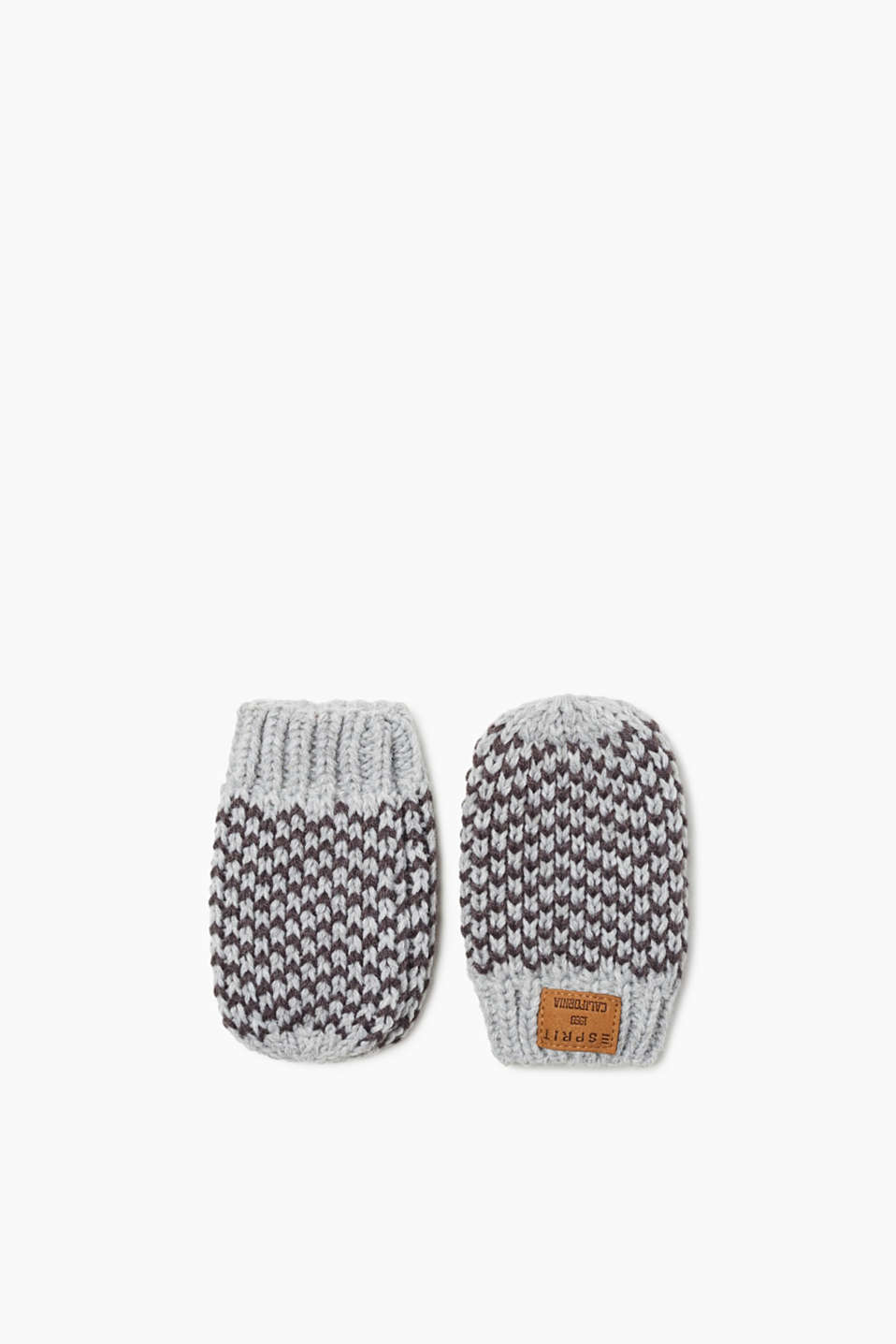 These mittens in a patterned knit are a soft and warm accessory for our little ones.