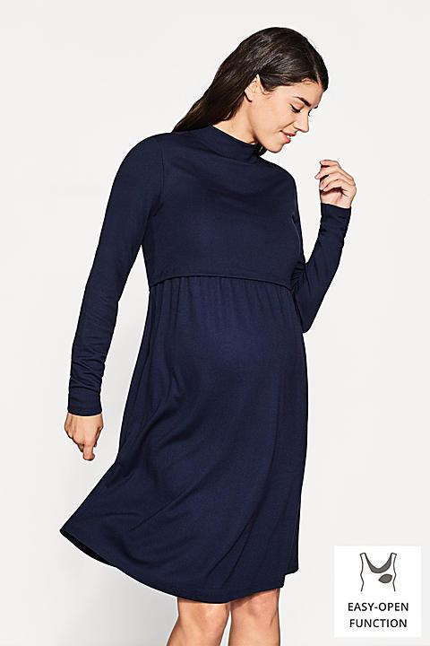 Jersey-Stretch-Kleid mit Layer-Stillfunktion