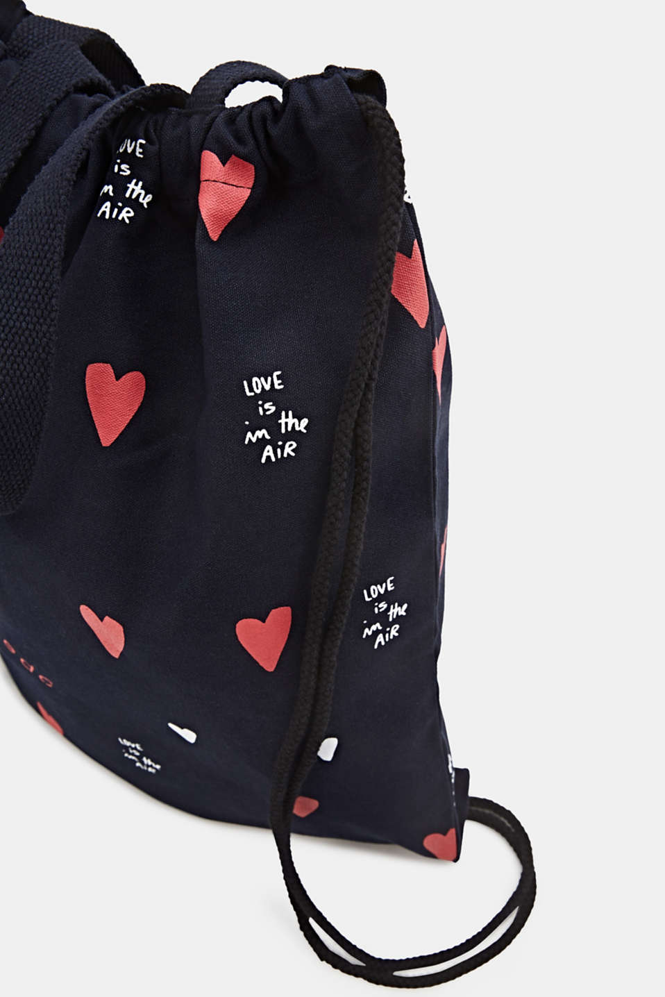 Canvas rucksack made of 100% cotton, NAVY, detail image number 3