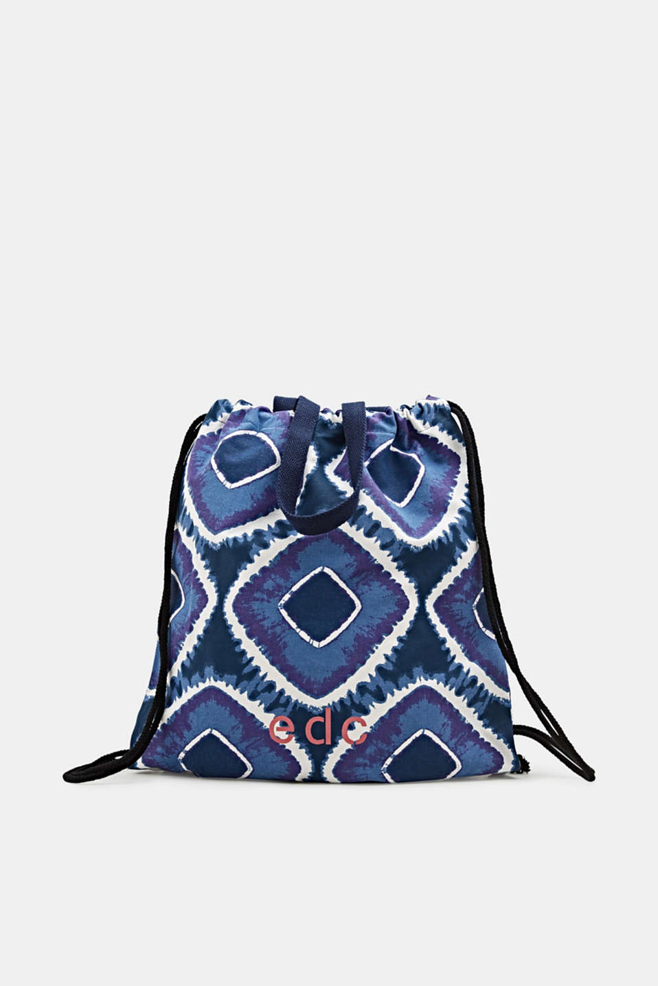 edc - Drawstring rucksack with a batik pattern