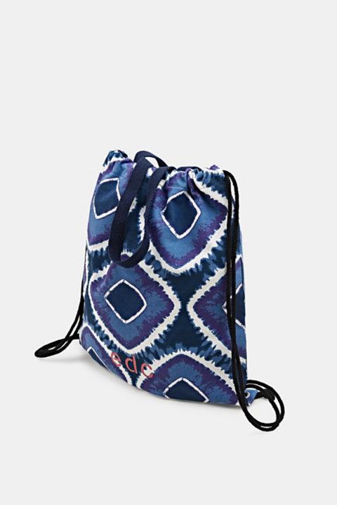 Drawstring rucksack with a batik pattern