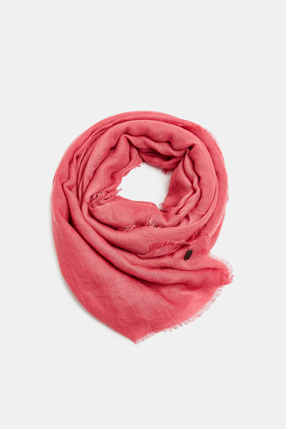 edc - Lightweight woven scarf with a rib texture