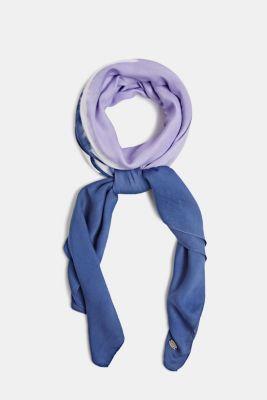 Square scarf with batik print, DARK BLUE, detail